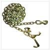 "GRADE 70 Chain with Grab Hook one end, RT and Mini J Hooks one end 5/16"" x 10FT"