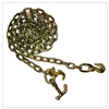 "GRADE 70 Chain with Grab Hooks one end, R and Hammerhead Hooks one end 5/16"" x 12FT"