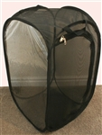 "Black 13.5"" by 13.5"" by 24"" Popup Cage with Vinyl Window"