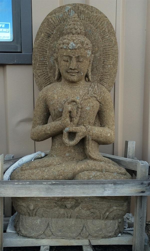 3ft hand carved stone garden buddha statue alternative views m4hsunfo