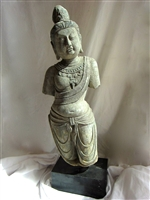 Beautiful Hand Sculpted Chinese Granite Standing Kuan Yin Statue