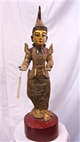 Antique Teak Wood Burmese Spirit Proctector Statue- 19th century
