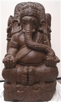 3ft Large Hand Carved Stone GANESHA GARDEN STATUE Remover of Obstacles