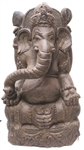 3ft Large Carved Stone Ganesh GANESHA ZEN GARDEN STATUE Asian Outdoor Decor