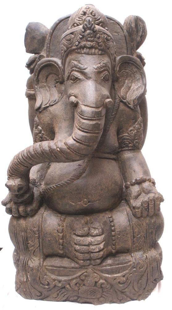 Ft large carved stone ganesh ganesha zen garden statue