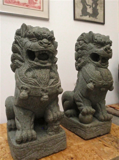 3ft Large Foo Dog Lion Statues Buddhist Temple Imperial Palace Fu Dog Guardians