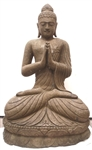 4ft Large Stone Namaskara Greeting Buddha Statue