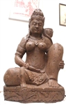 4ft Tantric Devi Tara Kali Goddess Statue CARVED STONE India Mahadevi Art