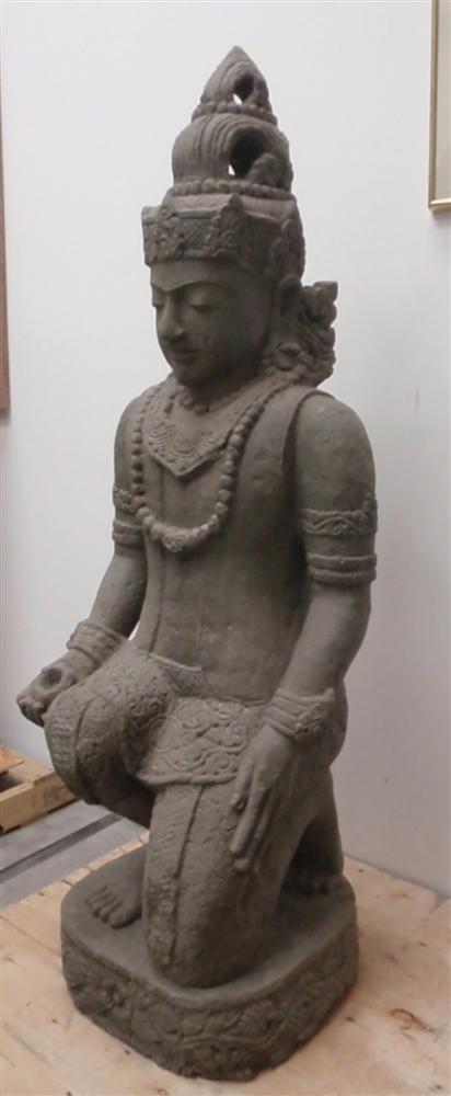 Tribal Arts Luba Fertility Figure/Statue of a Pregnant