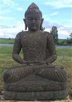 5ft Big Sitting Stone Buddha Statue w/ Peaceful Yoga Sutra Meditation Mudra