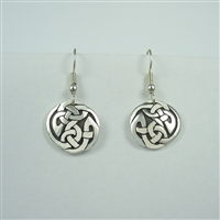 Small Celtic Interlace Circle Earrings