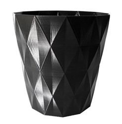 Diamond faceted planter flower pot de fleurs diamant design