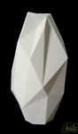 Monolith faceted vase facetté monolithique