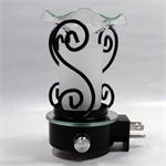 Fluted Glass Oil Warmer Nightlight