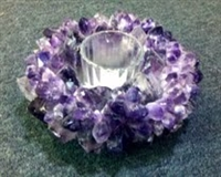 Amethyst Lotus Flower Tea Light