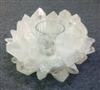 Quartz Lotus Tea Light Holder