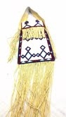 Lakota Sioux Beaded Leather Purse -White