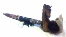 Creek Tribe Antler & Wooden Horse Pipe