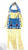 Lakota Sioux Beaded Leather Purse -Blue