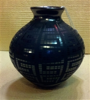 Black Etched Pot