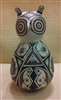 White & Terracotta/Black Painted Owl Vase