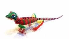 Orange & Green Beaded Lizard