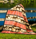 Horse Adventure Fleece Throw