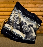 Wolf Gaze Fleece Throw