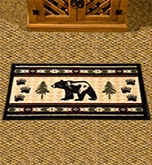 Lodge Inspired Rugs - Bear Fever