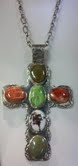 Gemstone & Sterling Cross
