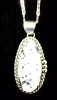 Oval White Buffalo Pendant & Chain