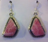 Rhodocrosite Earrings