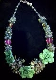 Rose & Crystal Beaded Necklace