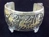 Sterling Kachina Dancer Cuff Bracelet