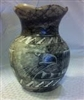 Etched Eagle Vase
