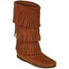 CALF HI 3-LAYER FRINGE BOOT