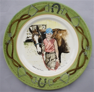 Laura & Flash Hand-Painted Plate