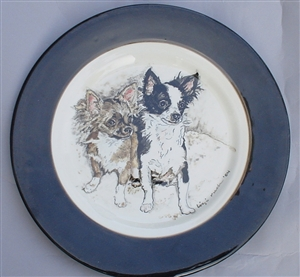 Minnie & Mickey Hand-Painted Plate