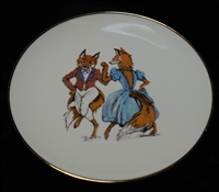 "Coupe Plate - Gold Band - ""Having A Ball"""