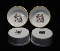 "Ramekin - Gold Band - ""Having A Ball"" - Set of 4"