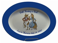 "Oval Serving Platter - ""Having A Ball"" - Personalized"