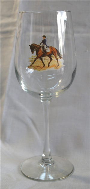 Wine Glasses - Dressage Horse - Set of 4