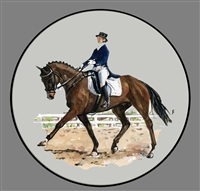 Coupe Plate - Black Band - Dressage Horse