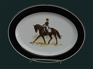 Oval Serving Platter - Dressage Horse