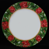 Flowers Charger - Roses Border
