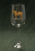 Wine Glasses - Hunter Horse - Set of 4