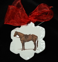 Snowflake Ornament - Hunter Horse