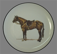 Coupe Plate - Black Band - Hunter Horse