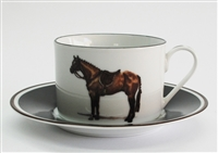 Cup & Saucer - Hunter Horse