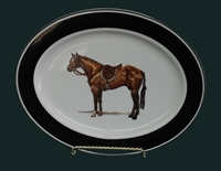 Oval Serving Platter - Hunter Horse